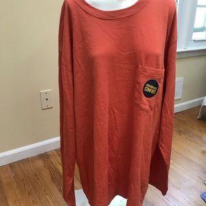 NWT Men's Stafford Orange Long Sleeve T-Shirt